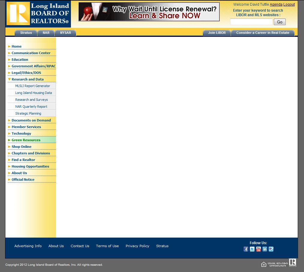 David Tuttle's realty website